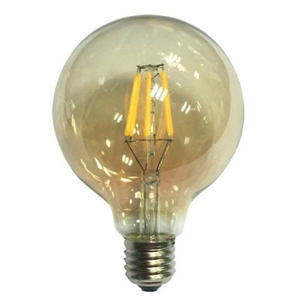 ����� led filament ���� Globe Ø125mm �27 6W 230V ������������� 2700k ����� ����� ��� 680lm
