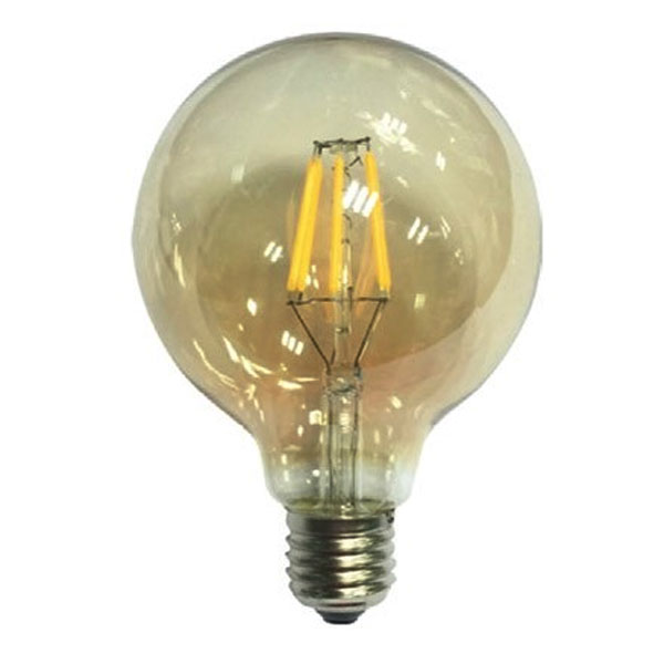 ����� led filament ���� Globe Ø95mm �27 6W 230V ������������� 2700k ����� ����� ��� 680lm